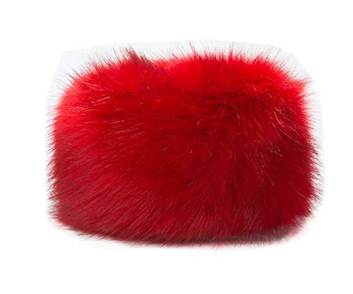 Gorro de invierno de diseño ruso tipo cosaco, para mujer Beige H-rojo. M