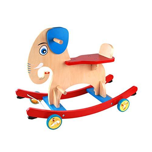 Houten schommelende paard kind rit op speelgoedbalans Kid rit op speelgoed voor baby
