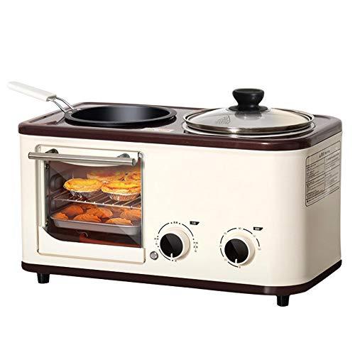 4In1toaster Frühstücksmaschine Backofen Eierkocher Mit Eierkocher Edelstahl Miniofen Kompakter Frühstücksofen Für 5L Toasten Mit Timing 60Min/Eierkochen/Omelett/Dampfgaren
