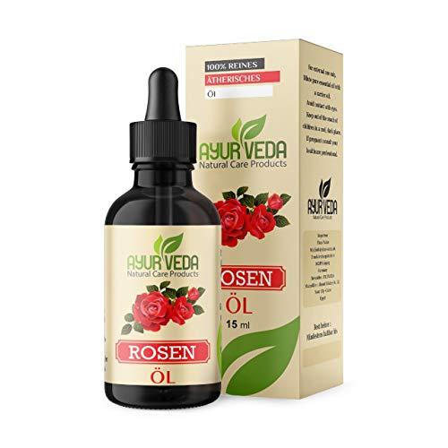 Rosenöl 100{49a3f8b72f788af446d0114f735adc4e2c5728fec644f6f3f55c5e80c3d892a8} naturreines ätherisches Rose Öl von Ayur-Veda - 15 ml aus Ägypten