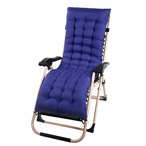 willkey Coussin Mat Coussin Bain de Soleil pour Lounge Fauteuil Chaise Transat de Jardin Fauteuil Relax épais Outdoor Assise 160 * 48 * 5 CM (Navy Blue)
