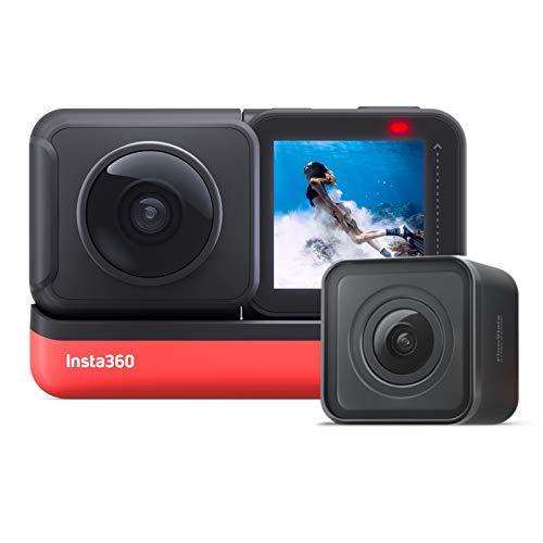 Insta360 ONE R Action Camera 4K HD WiFi Twin Edition Antivibrazioni Impermeabile, con Stabilizzazione FlowState Supporti, Controllo Vocale Rallentatore Ripresa Notturna HDR Foto Video