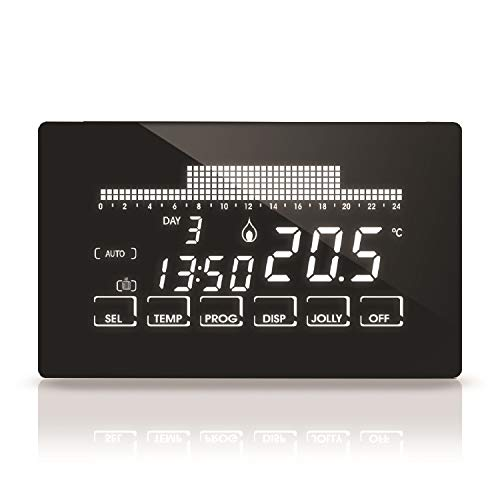 Fantini Cosmi – Cronotermostato con pantalla táctil retroiluminada, negro, CH193