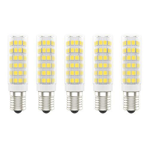 5X E14 LED Lampadina 7W LED Lampadine 75 SMD 2835LEDs Bianco Caldo 3000K LED Lamps Super Luminoso 650LM Sostituzione 65W Alogena AC220V-240V