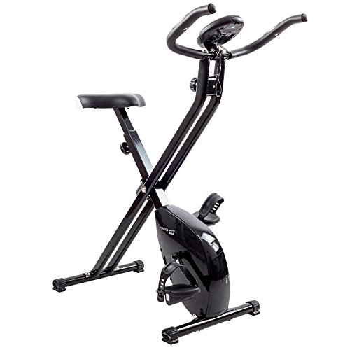 TechFit Folding Exercise Bike | Magnetic F-Bike | Home Recovery Cardio Trainer with Computer and Pulse Sensors
