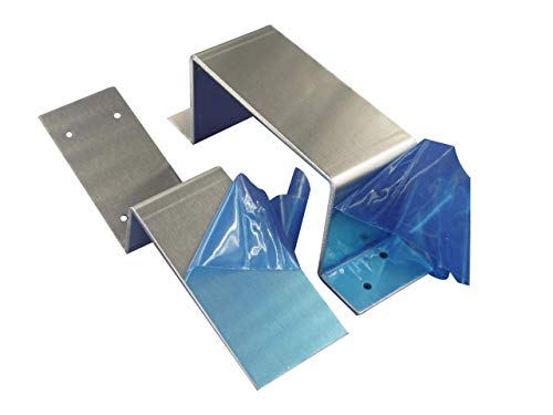 MACCANN&ESSIN Door Barricade Closed Bar Holder 2x4 Drop Open Lock Bracket Brackets Security Bar Door Stopper Fits 2x4 Boards Lumber (1 Set Included Closed and Open Brackets with Screws)