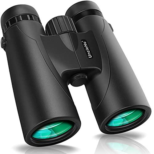 12x42 Kompaktfernglas für Erwachsene mit BAK4 Prism, FMC-Objektiv, wasserdichtes Hochleistungs-HD-Fernglas-Teleskop für die Vogelbeobachtung Stargazing-Reisejagdkonzerte Sport mit Smartphone-Adapter
