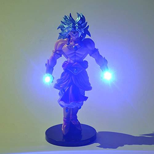 MFBis Dragon Ball Broli Nachtlicht PVC Action Figure DIY Anime Modell Spielzeug Dekorative Beleuchtung Mehrere farben LED Tischlampe Sammeln Geburtstagsgeschenk für Kinder, blau