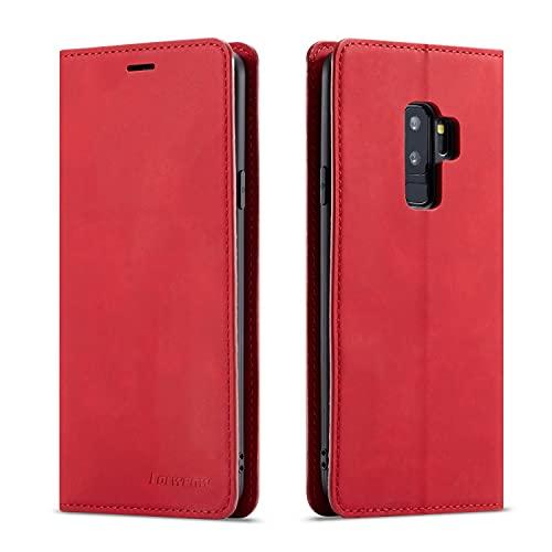 Funda protectora Funda de billetera de cuero de PU multifunción para Samsung Galaxy S9,2 en 1 Funda de fundidor de billetera magnética del soporte de la cartera de la cartera de la cartera de la carte