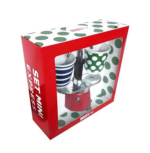 Bialetti Set de 2Tazas, Aluminio, Aluminio, Rojo, 22 x 8 x 21,5 cm