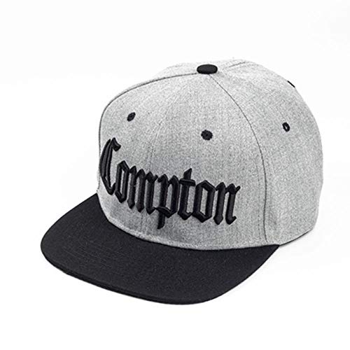 Baseball Kappe Snapback Cap HutNeue Compton Stickerei Baseball Hüte Mode Verstellbare Baumwolle Männer Mützen Traker Hut Frauen Hüte Hop Snapback Cap Sommer Mützen Grau