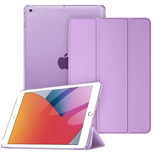 Fintie Hülle für iPad 10.2 Zoll (8. & 7 Generation, Modell 2020/2019) - Superdünn Schutzhülle mit durchsichtiger Rückseite Abdeckung Cover mit Auto Schlaf/Wach Funktion, Lavendel