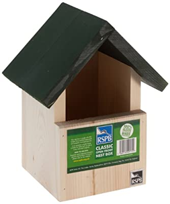 RSPB Open Front Apex Nest Box from RSPB Sales Ltd