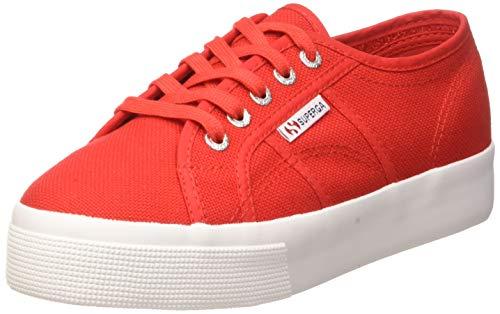 Superga 2730-cotu, Chaussures de Gymnastique Femme, Rouge (Red/White C90), 44.5 EU