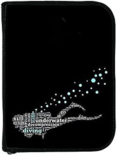 New Scuba Diving 3 Ring Zippered Log Book Binder with Free Generic Log Insert ($12.95 Value) - Diver Text
