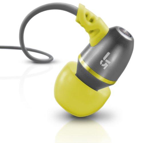 JLab Audio J5 Metal Earbuds Style Headphones, Guaranteed for Life - Black Pearl