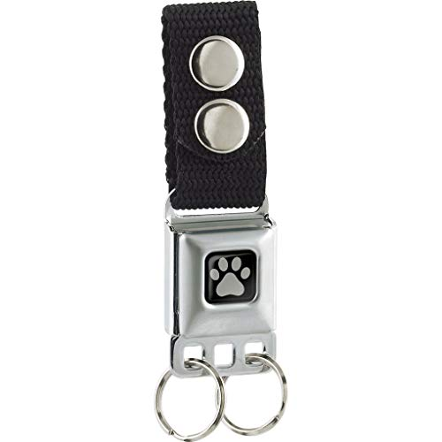 Buckle-Down Men's Keychain-Paw Print, Multicolor, One Size