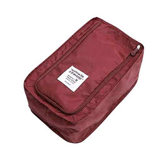 XWJRPA Aufbewahrungskiste,wasserdichte Fußball-Schuhtasche Reisestiefel Rugby Sports Gym Carry Aufbewahrungskoffer Box, Burgund