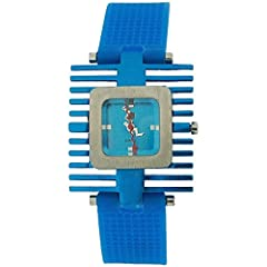 A funky modern looking wrist watch by Kool Time this is a high functioning fashion timepiece which is both stylish and durable. This watch is the ideal gift for her. Product Features: * Quartz movement. * Quad style bezel. * Squiggly hour minute and ...
