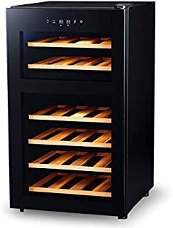 PlusQ/プラスキュー ワインセラー 24本収納 日本メーカー製ペルチェ採用 2温度帯 コンパクトモデル BWC-024P
