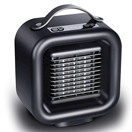Mini Personal Space Heater, Handy Fan-keramische Heizung, mit 3s schnell Heizung, Handgriff-Entwurf, Oszillierende Heater, Schwarz