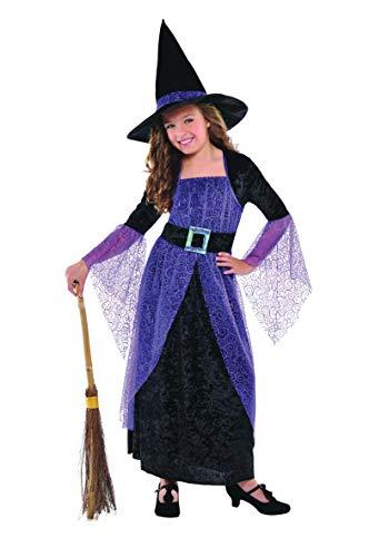 Amscan 997723 - Kinderkostüm Hexe, Kleid, Hexenhut, Witch, Zauberer, Mottoparty, Karneval, Halloween