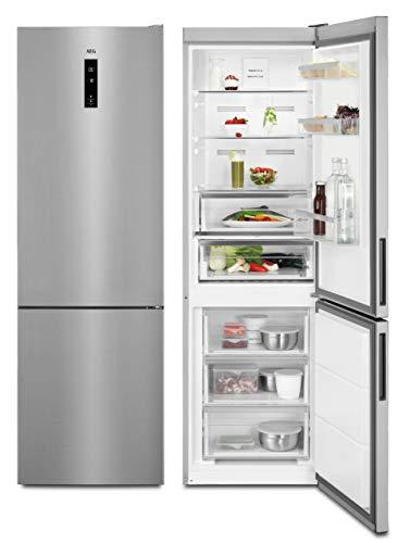 AEG RCB73421TX Freistehende Kühl-Gefrierkombination / Großer Standkühlschrank mit Gefrierfach / 0°C-Fach & NoFrost / Energieeffizienzklasse A++