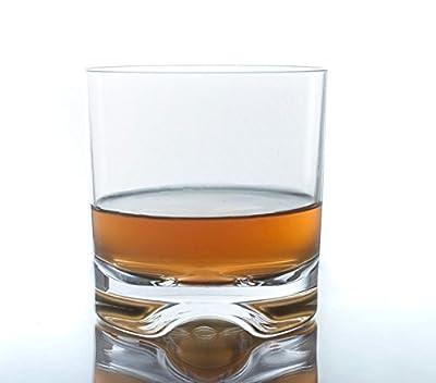 Poolside Unbreakable Tritan Plastic Cocktail Glasses ~ For Whiskey, Rocks or Double Old Fashioned ~ Elegant Reusable Glassware ~ Sophisticated Shatterproof Dishwasher Safe ~ Indoor/Outdoor Barware