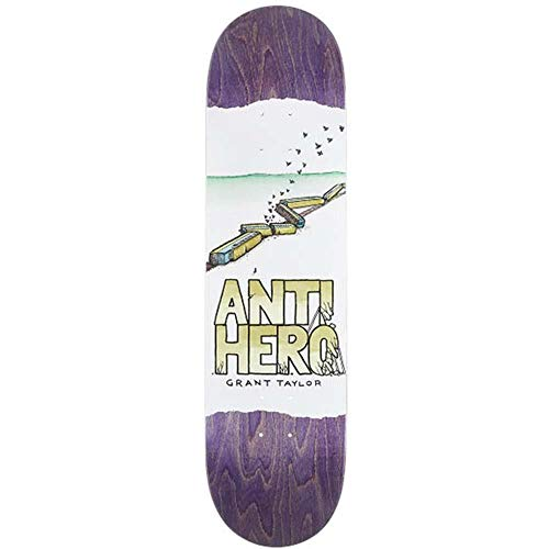 Anti Hero Skateboard-Brett / Deck, 20,6 cm, Weiß