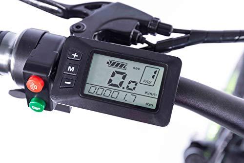 41iAvs6cmTL - XXCY 20 Zoll Fetter Reifen, 36V 500W Motor, faltbares Fahrrad, elektrisches Fahrrad, Mobile Lithiumbatterie Shimano 7-Gang hydraulische Scheibenbremse