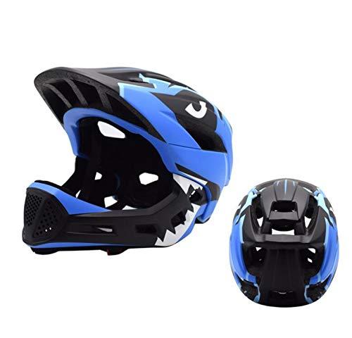 YYSDH 2020 Fahrradhelm 50-57 cm Kinder Mundschutz Fahrradhelm Kinder-Fahrradhelm Mit Doppeltem Verwendungszweck,Blau