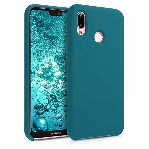 kwmobile Cover Compatibile con Huawei P20 Lite - Cover Custodia in Silicone TPU - Back Case Protezione Cellulare Petrolio Matt