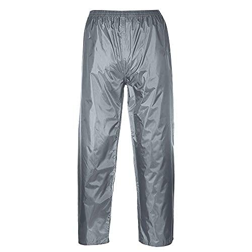 Portwest Pantaloni Impermeabili Classic, Colore: Grigio, Taglia: XXL, S441GRRXXL