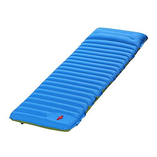 Almohadilla inflable con almohada, portátil ultraligente Inflando estera de acampada, colchón de aire autoinflante Amplio almohadilla de dormir empalmamiento de la cama inflable Beach Picnic Mat Campi