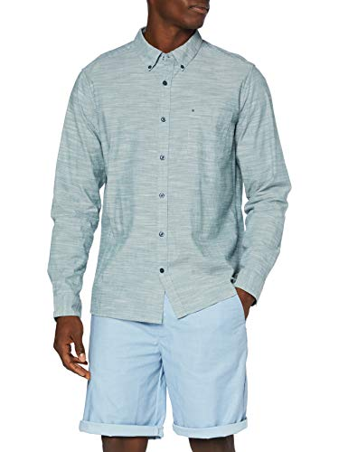 Hurley M One&Only Woven 2.0 L/S Camisa, Hombre, Ash Green
