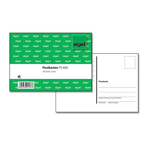 SIGEL PS600 Postkarten blanko weiß, A6, 100 Stück