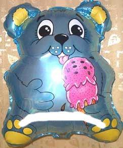 1 Stück 'Eis-Bärchen'-Folienballon Shape, blau, ca. 53 cm, ohne LOLLIPOP®-Gasfüllung