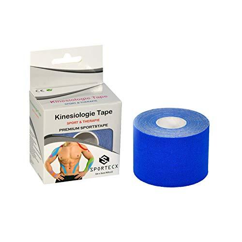 SPORTECX Kinesiologie Tape   Premium Sporttape für Sport & Therapie   Wasserfest & extra langer halt   Kinesio Tape für die Unterstützung der Muskel und Gelenke
