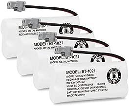 QTKJ Cordless Phone Battery for Uniden BT-1021 BT1021 BT-1008 BT-1016 D1760 D3097 D1785 D1680 D1760 D1788 D3098 D1780 DWX207 DCX200 (4-Pack)