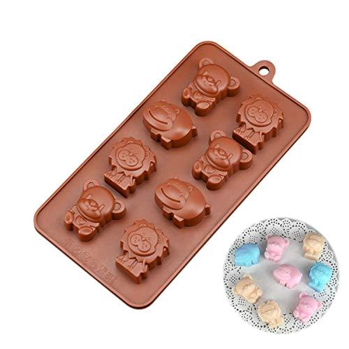 FantasyDay® 8 cavidades moldes de Silicona para Hielo, Tartas, Chocolate - 100% alimentarias y sin bpa - Animales Bonitos