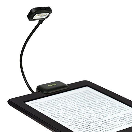 iKross Black Dual LED Clip-On Reading Light