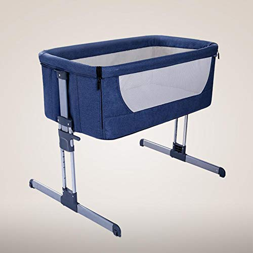 HEEGNPD Babybett faltbar Tragbares Bett Atmungsaktives Bett Reisebett Neugeborenes Bett mit normalem großem Bett der Eltern,B