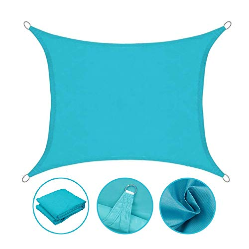 WXQIANG Toldo de toldo para exteriores, impermeable, con bloqueo UV, 2 especificaciones, protección solar, aislamiento térmico, (color: azul, tamaño: 5 x 6 m)