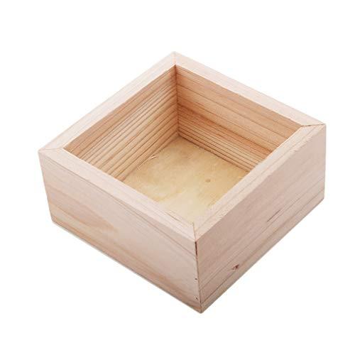 CAVIVI - Caja de almacenamiento de madera para guardar el hogar, sin pintar, ideal para joyas, color primario