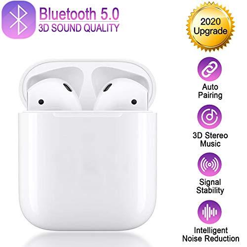 Bluetooth Kopfhörer,Bluetooth 5.0 Headset Stereo-Minikopfhörer HD-Klangqualität Kabellose Kopfhörer mit Portable Mini Ladekästchen,geeignet fürAndroid/iPhone/Apple AirPods Pro/AirPods/AirPod/AirPods 2