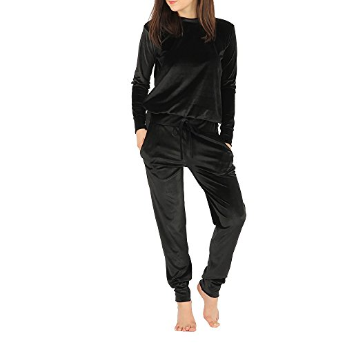 Simply Chic Outlet -  Tuta da Ginnastica - Donna Black Medium/Large