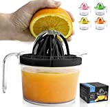 Zulay (17oz Capacity) Citrus Juicer Hand Press - Multifunctional Hand Juicer With Egg Separator,...