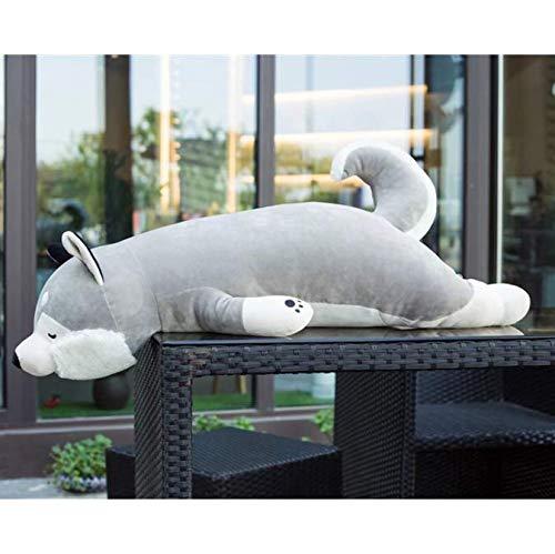 FEJK Plüsch Simulation Husky Hundespielzeug Kuscheltier Puppe Welpen Haustier Kissen Kissen Kinder Baby Geburtstagsgeschenk Präsentieren Home Shop Dekoration 55 cm