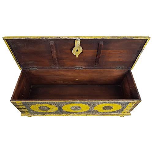 Indoortrend.com Truhe Kiste Holztruhe Vintage Massiv Box aus Altholz Antik Handarbeit Unikat 14 - 3