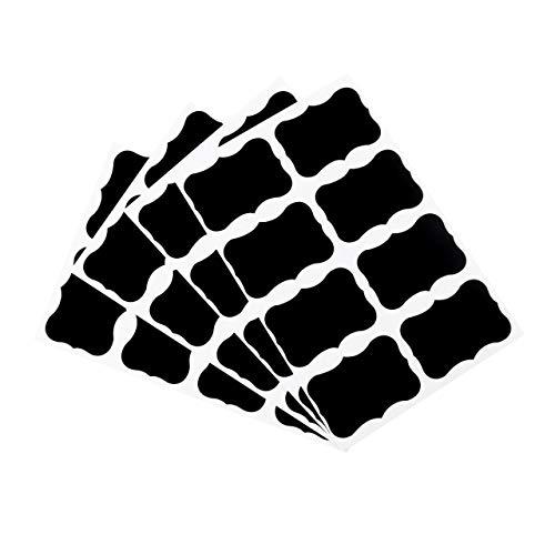 36 piezas pizarra pizarra pizarra pizarra pegatinas artesanal cocina tarro etiquetas 49 x 34 mm decoración calcomanías etiquetas (negro) ESjasnyfall